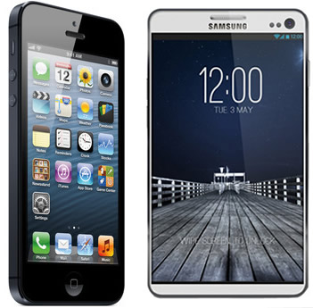 apple iphone 5 versus samsung galaxy s4  new phones coming