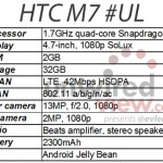 HTC M7 Will Be Sold as HTC One